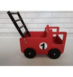 Wózek Auto Pchacz + IMIĘ Drewniany Straż Pożarna Karetka Policja Ekspresowa Wysyłka