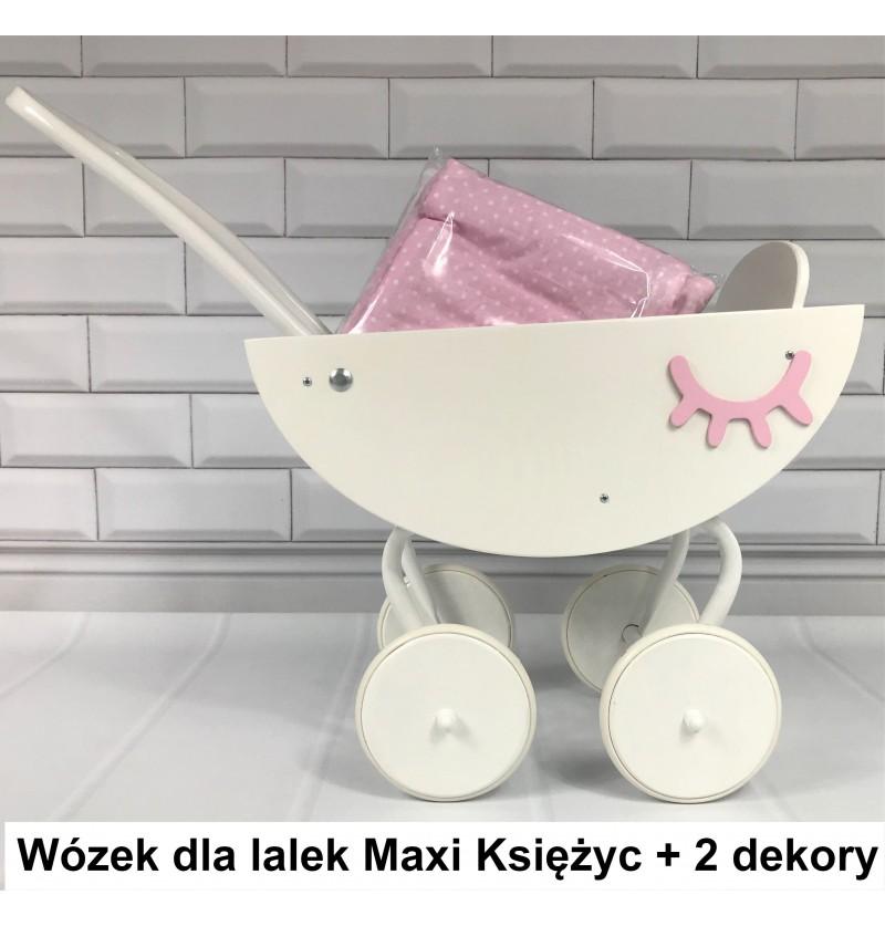 Wózek Drewniany dla lalek Imię Maxi Księżyc 2 - 7 lat pchacz