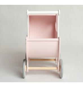 Wózek drewniany Wspomnienie Dzieciństwa 12m+ wycięte serce