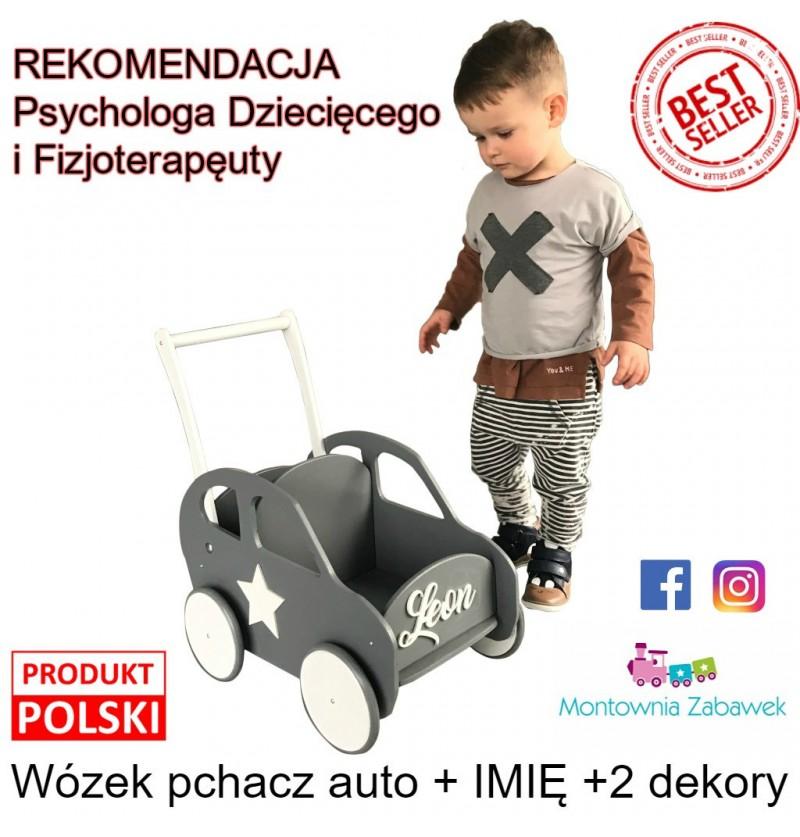 Auto pchacz + Imię Ekspresowa Wysyłka Prezent na Roczek