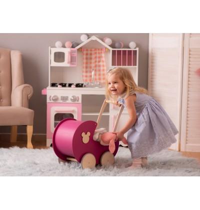 ZESTAW Wózek dla lalek BUDKA + kołyska + IMIĘ dziecka + pościel! Dowolne kolory i dekory EKSPRESOWA WYSYŁKA