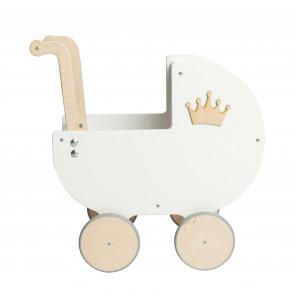 Wózek drewniany Wspomnienie Dzieciństwa 12m+ DEKOR 3D prezent na urodziny dla rocznej dziewczynki