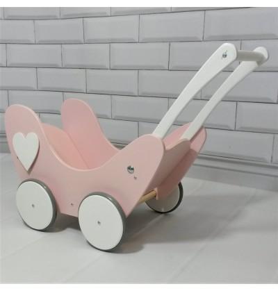 Wózek dla Lalek Drewniany_Skrzydła_Anioła_HIT_Jedyny